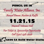 FAMILY WATER ALLIANCE ANNUAL DINNER, AUCTION & RAFFLE