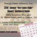 "SAVE THE DATE – 21ST ANNUAL ""HOT CAJUN NIGHT"" DINNER, AUCTION & RAFFLE"