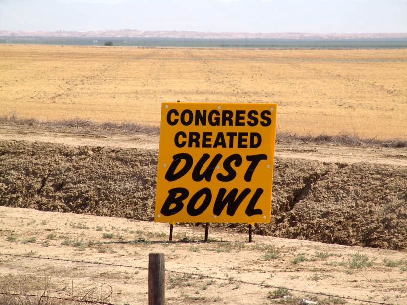 Congress Created Dustbowl Freeway Sign